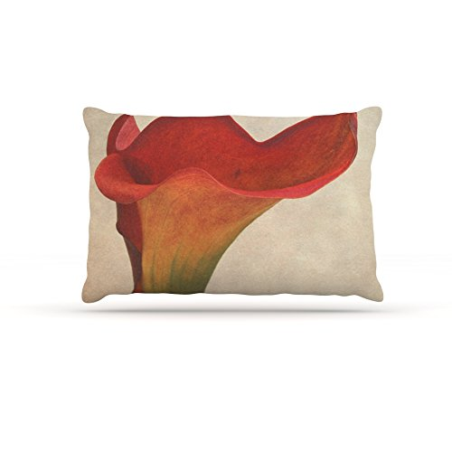 Kess InHouse Iris Lehnhardt Calla  Fleece Dog Bed, 50 by 60 , Red Flower