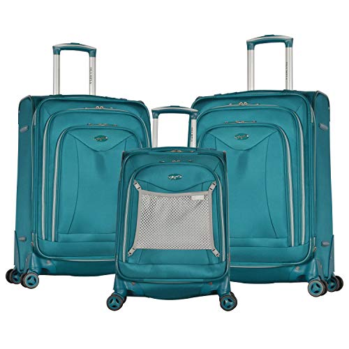 Olympia Luxe Ii 3-Piece Exp. Eva Spinner Set, Teal