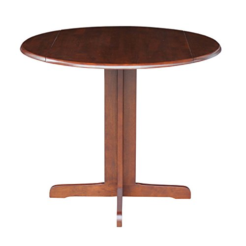 International Concepts Dual Drop Leaf Dining Table, Espresso, - Leaves Drop Dual