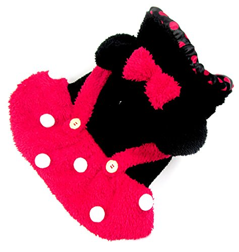 Woo Woo Pets New Arrival High Quality Warm Disney Minnie Mouse Couple Lovely Pet Costume Red M