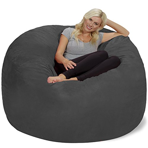 41lLzshcS0L - Chill-Sack-Bean-Bag-Chair-Giant-6-Memory-Foam-Furniture-Bean-Bag-Big-Sofa-with-Soft-Micro-Fiber-Cover-Charcoal