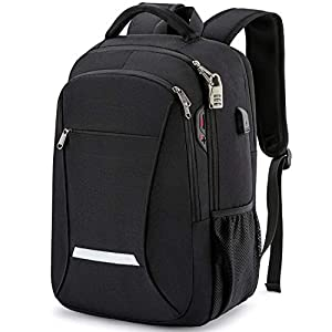Backpack for Men,Travel Laptop Backpack with USB Charging/Headphone Port,Durable Water Resistant College School Backpack…