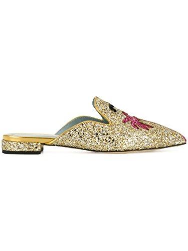 Chiara Ferragni Vrouwen Cf1842 Goud Glinsterende Sandalen