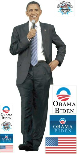 Political Wall Decals - President Obama - 12 inch Removable Graphic