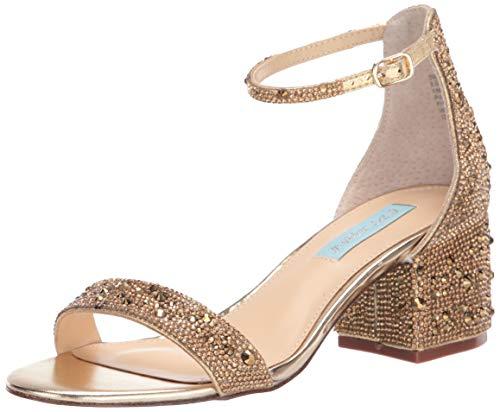 Blue by Betsey Johnson Women's SB-MARI Heeled Sandal, Gold, 10 M US