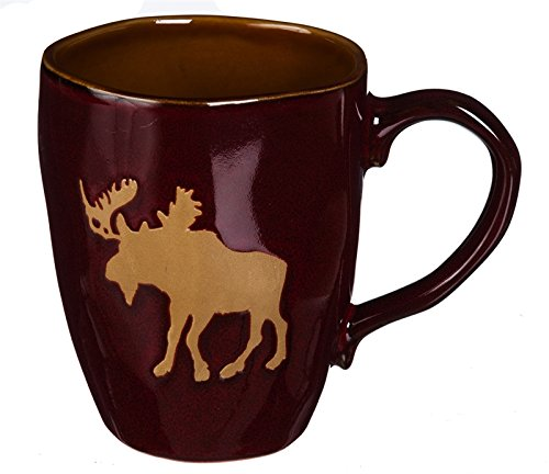 Cypress Home Ceramic Cup, Moose, 16 Ounces