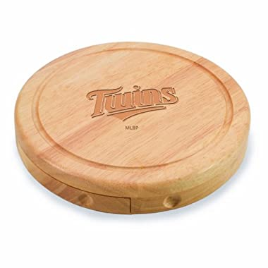 MLB Minnesota Twins Brie Cutting Board with 3-Piece Cheese Tool Set