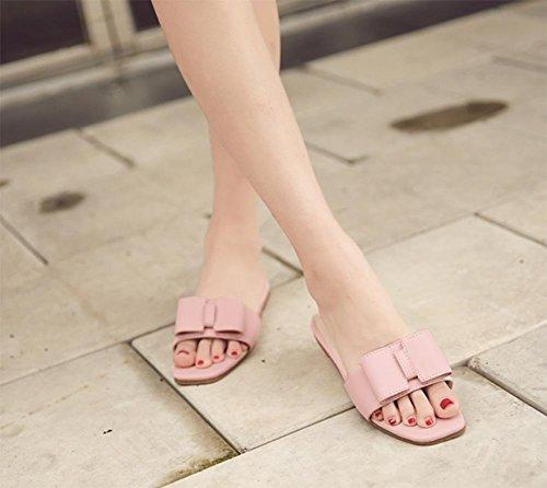 Zapatos Flores Con Zapatillas De Rosa Soporte Flat Verano 7q1tB1X