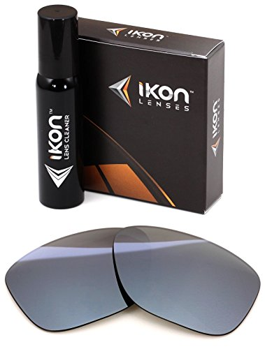 Polarized Ikon Iridium Replacement Lenses For Oakley Garage Rock Sunglasses - Silver Chrome - Sunglass Garage