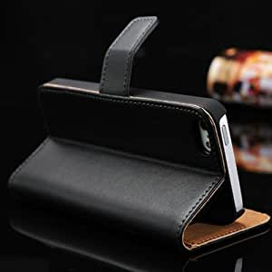 Genuine Leather Wallet Stand Design Case for iPhone 5 5S 5g Flip black white with Card Holder, 2 Styles,10 pcs/lot Wholesale OYO --- Color:style 2 orange