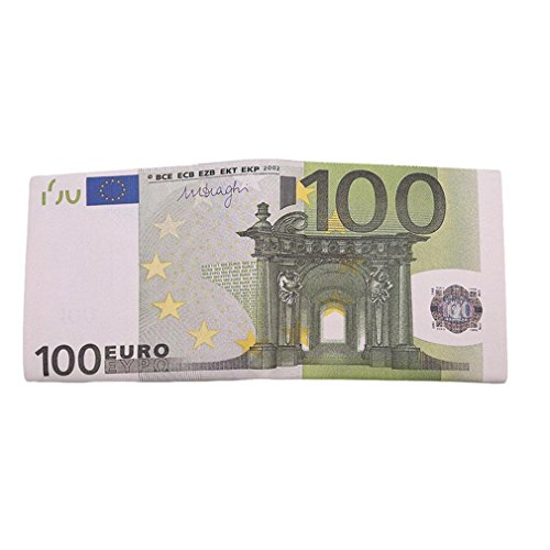 - UNKE PU Leather Euro Pattern Wallet Bank Paper Note Money Pouch Currency ,100 Euros