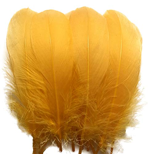 Sowder Natural Goose Feathers Clothing Accessories Pack of 100(Golden Yellow)