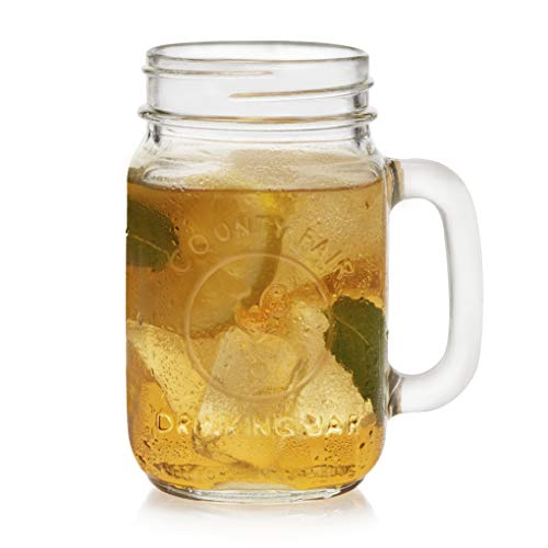 Libbey County Fair Glass Drinking Jars, Set of 12]()