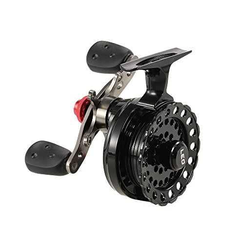 Lixada 4+1 Ball Bearing 2.6:1 Gear Ratio Right/Left Hand Raft Fishing Reel Fly Reel Wheel Ice Fishing Reel Star Drag Fishing Tackles with Storage Pouch