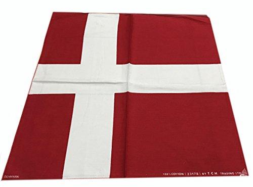 50x50 cm Denmark Handkerchief Cotton pocket square Hanky Bandana Scarf Hankie Headband World Cup Flag Denmark football