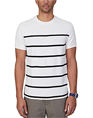 Mens Slim Fit Stripe Graphic T-Shirt