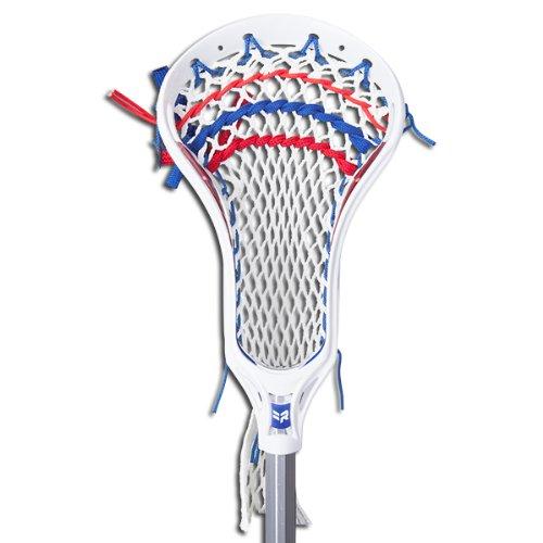 Warrior Rabil Strung Lacrosse Head, Black/White, HS