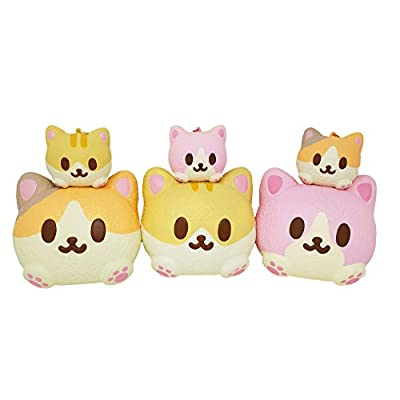 ibloom Kitty Pan Slow Rising Animal Cat Squishy Toy (Mimi, Strawberry Scent, 3 Inch) [Birthday Gifts, Party Favors, Stress Relief Toys for Kids, Adults]: Toys & Games