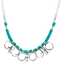 Deals on Finecraft Turquoise Bead Curlicue Necklace