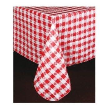 Winco TBCO 70R Checkered Table Cloth, 52 Inch X 70 Inch,