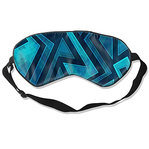 Marine Color Maze Seamless Texture with Grunge Best Sleep Mask Travel, Nap, Adjustable Belt Eye Mask for Men and Women
