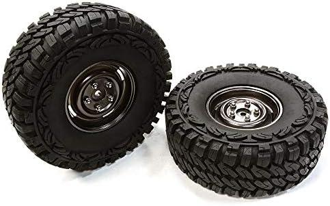 Integy RC Model Hop-ups C26376GUN Composite 4L Type 1.9 Size Wheel & Tire (2) for 1/10 Scale Crawler (O.D.=113mm)