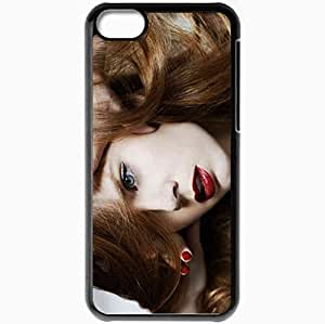Personalized iPhone 5C Cell phone Case/Cover Skin Amy Adams Black