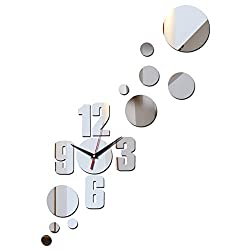 EverTrust(TM) Direct selling acrylic mirror wall stickers clock modern style home decoration still life 3d sticker furniture sofa background