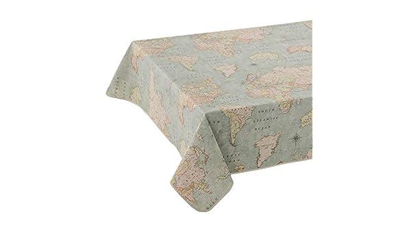ANRO - Mantel lavable de tela prémium, fácil cuidado, tela prémium ...