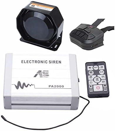 Como Sirena Policía Federal Kit de altavoces (4 piezas Unidades 100 W con sirena caja altavoz mano mando a distancia micrófono y mando a distancia en el volante: Amazon.es: Coche y moto