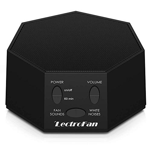 LectroFan High Fidelity White Noise Machine with 20 Unique Non-Looping Fan and White Noise Sounds and Sleep Timer, Global Power Edition
