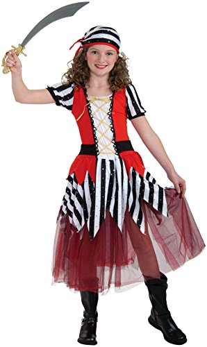 Forum Novelties Playful Pirates High Seas Sweetheart Child Costume, Medium (Good Halloween Costumes For High School)