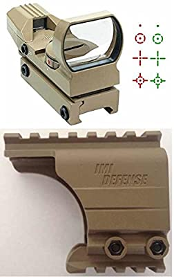 IMI Defense Pistol Scope Mount Tan + Ultimate Arms Gear TAN Reticle Red & Green Dot Open Reflex Sight Fits Taurus & Springfield XDM XD XDS by Ultimate Arms Gear