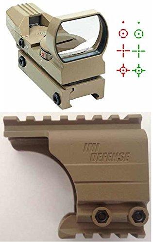 Upr Arm - Ultimate Arms Gear IMI Defense Pistol Scope Mount Tan TAN Reticle Red & Green Dot Open Reflex Sight Fits HK Heckler & Koch H&K HK45 P30 P30L P2000 Pistols