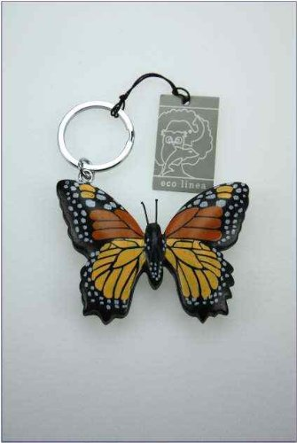 Llavero mariposa, * DE MADERA * Butterfly Keychains: Amazon ...