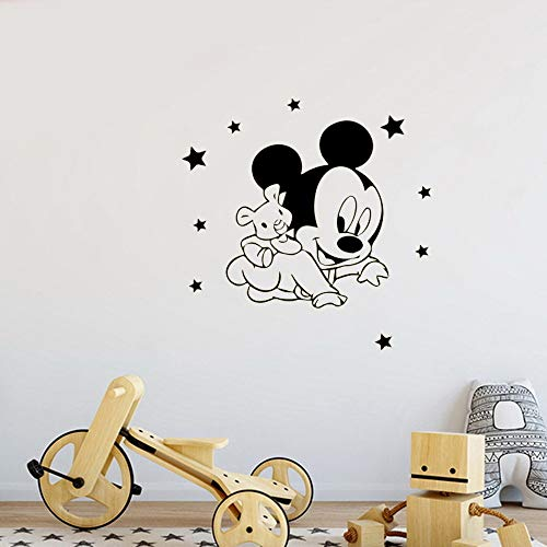 Mickey Minnie Mouse Wall Art Decal Sticker Mickey Mouse Minnie Wall Sticker Wall Decals Vinyl Stickers for Children Room Kids