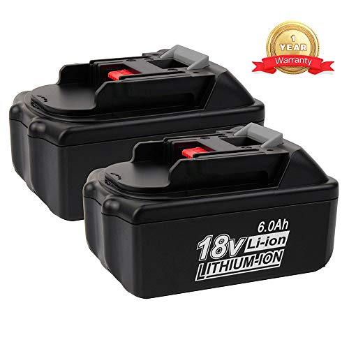 2PACK 18V 6.0Ah BL1860 Battery Replacement for Makita 18V Battery BL1860B BL1830 BL1840 BL1840B BL1850 BL1850B BL1845BL1815 BL1820 LXT-400 18-Volt Cordless Power Tools Batteries