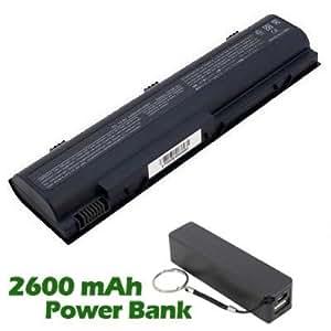 Battpit Bateria de repuesto para portátiles HP Pavilion DV1131EA (4400mah / 48wh) con 2600mAh Banco de energía / batería externa (negro) para Smartphone