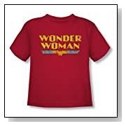 Dc Comics - Wonder Woman Logo Toddlers T-Shirt In Red