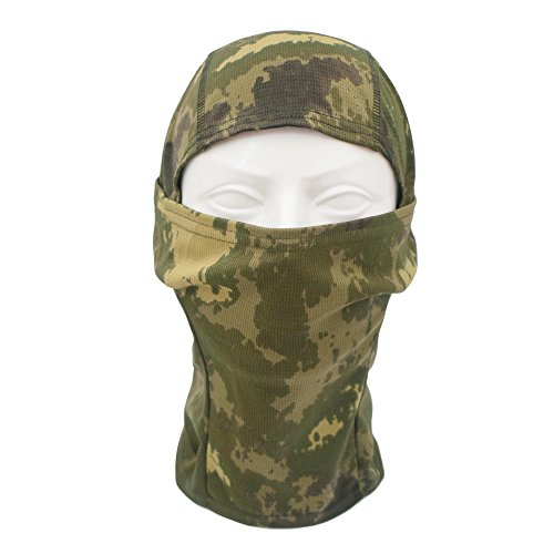 TClian Camouflage Balaclava Hood Ninja Headwear Outdoor Cycling Motorcycle Hunting Military Tactical Helmet liner Gear Full Face Mask (Jungle)
