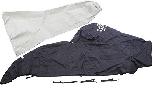 (Sno-Skinz Black Snowmobile Undercover Custom Fit Cover Extends to Rear Bumper for Polaris 2006-2009 Trail Edge RMK Models 355-LT BLK/BLK)
