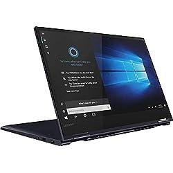 "2019 Lenovo Yoga 730 2-in-1 15.6"" FHD IPS Touchscreen Laptop, Intel Quad Core i7-8565U Upto 4.6GHz, 12GB RAM, 256GB SSD, Backlit Keyboard, Fingerprint Reader, HDMI, WiFi, Windows 10, Abyss Blue"