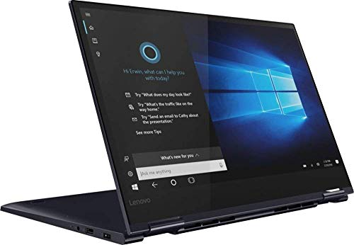 "2019 Lenovo Yoga 730 2-in-1 15.6"" FHD IPS Touchscreen Thin & Light Laptop, Intel Quad Core i5-8265U Upto 3.9GHz, 12GB RAM, 256GB SSD, Backlit Keyboard, Fingerprint Reader, WiFi, Windows 10,Abyss Blue"
