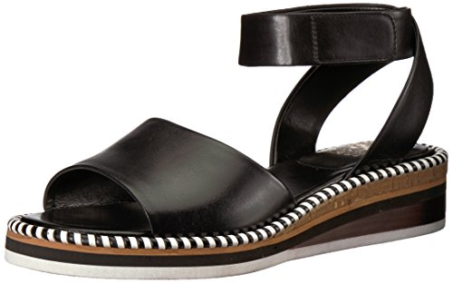 Vince Camuto Women's Mariena Flat Sandal, Black, 7.5 Medium US