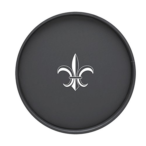 (Kraftware Kasualware Collection Fleur de Lis Serving Tray, Black - 14 Inch)