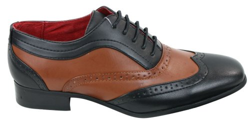 Rossellini Laced Scarpe nera Marrone Uomo pelle Casual Vintage Oxford foderate Nero Smart in e marrone YwEYrPq