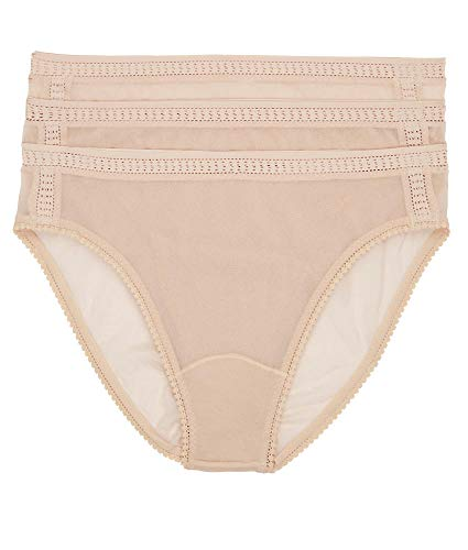 - OnGossamer Women's Intimate Apparel Gossamer Mesh Hi-Cut Brief Panty, Champange, Medium