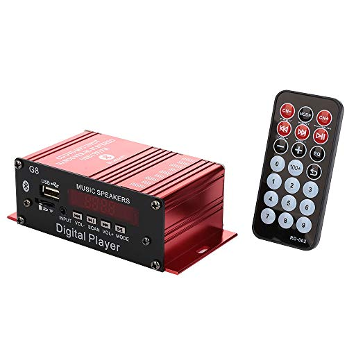 BigFamily G8 Smart Bluetooth Digital Power Amplifier 12V pluggable/TF Card/U Disk/Remote Control/FM Radio