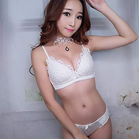 Amazon.com: GuiZhen Sujetador Push up ondergoed Lingerie Femme lace Bra Wireless Underwear Set lencero Encaje Intimo Sous Vetement: Garden & Outdoor