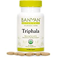 Banyan Botanicals Triphala Tablets - Organic Triphala Supplement with Amla, Haritaki & Bibhitaki – for Daily Detoxifying, Cleansing, Rejuvenating* – 90 Tablets – Non-GMO Sustainably Sourced Vegan